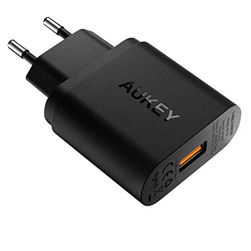 AUKEY Quick Charge 3.0 USB Ladegerät 19,5W USB Netzteil für Samsung Galaxy S8/S8+/Note 8, LG G5/G6, Nexus 5X/6P, HTC 10, iPad Pro/Air, Wireless Ladegerät usw. T9-power-pack