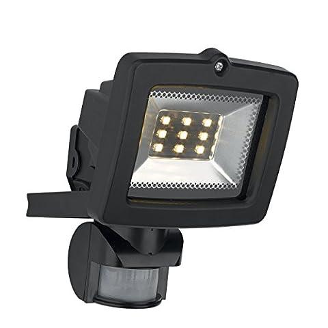 Philips Massive 17522/30/10 Black Motion Sensor FES Floodlight - 9 Powerful LEDs, IP44 Weatherproof - Ideal for Home/Garden!