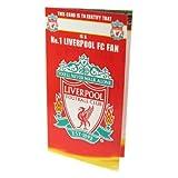 Liverpool FC Offizielles Produkt Geburtstagskarte und Envolope New No 1Fan Design