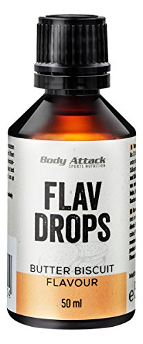 Body Attack Flav Drops 1x 50ml Butter Biscuit -