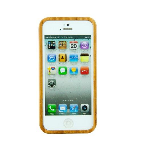 SunSmart (TM) unique fait à la main en bambou naturel Hard Cover Case en bois pour iPhone 5 5S(Pékin masque de l'opéra) une pièce