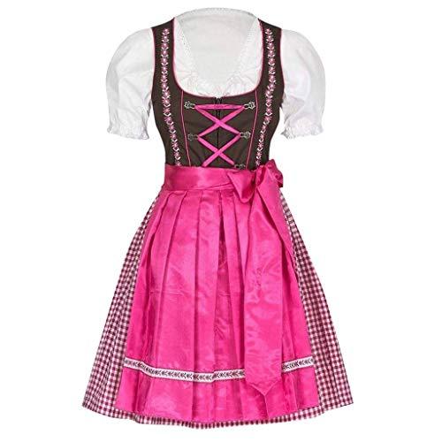 Allence Damen Lolita Maid Cosplay Kostüm, 4 PCS als Set inkl. Kleid; mit Kopfbedeckungen; Schürze; Fake - Klassische Hexe Für Erwachsene Plus Kostüm