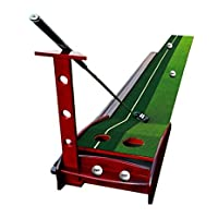 Nola Sang Indoor / Outdoor Golf Putting Mat Mini Praxis Putter Tool Auto Rückkehr Putting Trainer Matte 3 Golfbälle, 1 Putter