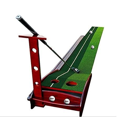 Nola Sang Indoor / Outdoor Golf Putting Mat Mini Praxis Putter Tool Auto Rückkehr Putting Trainer Matte 3 Golfbälle, 1 Putter , B