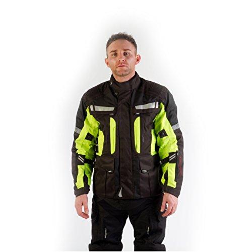 Viper-Rider-Giacca-Signal-NeroGiallo-Brillante-Taglia-XL