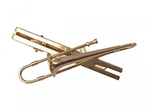 Posaune Krawattennadel Krawattenhalter + Box Miniblings Posaune Posaunist golden