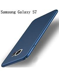 Coque Samsung Galaxy S7 Ultra Slim Légère Case Adamark Anti-Scratch Thin Protection Housse Bumper Récurer PC Rigide Étui Back Shell Pour Samsung Galaxy S7 (blue)