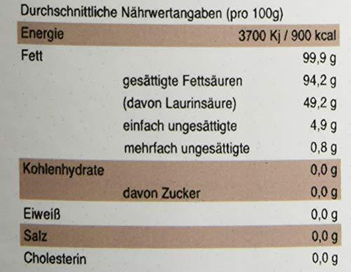 Guru Kokosöl nativ und naturrein -Bio Qualität- 1. Kaltpressung - Rohkost - Vegan - Bio-Kokosfett, 1er Pack (1 x 1000ml Bügelglas)
