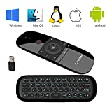 Tastiera wireless, Linstar H18 Mini tastiera da 2,4 GHz con Touchpad completo con touch pad grande Telecomando per Smart TV TV Android Box PC Laptop