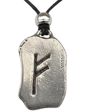 Feoh Rune Anhänger Amulett Talisman Zinn - Spiritueller Reichtum