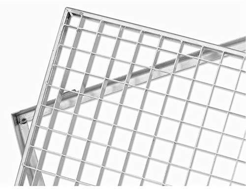 ACO Schuhabstreifer Gitterrost mit Zarge MW 30/30 Eingangsrost Normrost Abstreifer Rost, Größe Gitterroste :100 x 40 cm