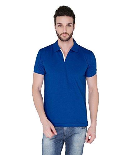 Joke Tees Solid Men's Polo T-Shirt (Royal Blue) (XX-Large)