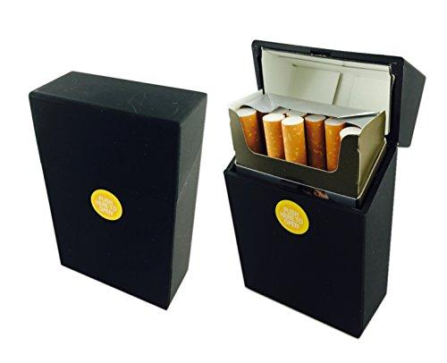Offre Lagiwa - Etui à paquet de 20 cigarettes couleur au choix avec 1 cadeau bonus (Noir mat)