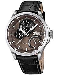 Lotus 15846/3 - Reloj analógico de cuarzo para hombre, correa de cuero color negro (agujas luminiscentes)
