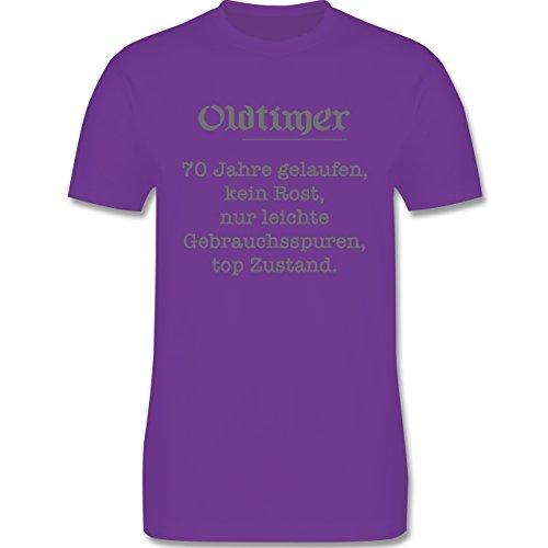 Geburtstag - 70 Jahre Oldtimer Fun Geschenk - Herren Premium T-Shirt Lila