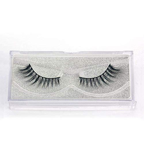 TOOGOO 1 paire Faux cils 3D Cils de maquillage longs naturels croises des yeux - A01