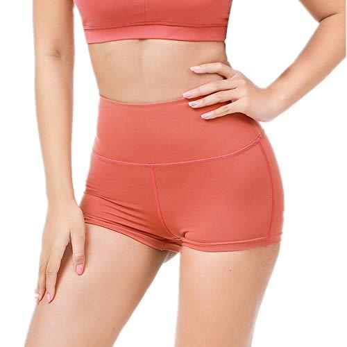 NYSLTC Hohe Taille Shorts sexy pfirsich hip Shorts elastisch Engen lauf Yoga Frauen rot xs -