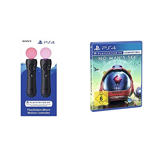 PlayStation Move Motion-Controller - Twin Pack (2018) [PSVR] [PlayStation 4 ] & No Man´s Sky Beyond [PlayStation VR]