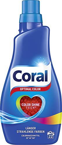 Coral Waschmittel Optimal Color flüssig 44 WL, 2er Pack (2 x 22 WL)