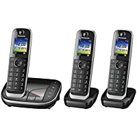 Panasonic KX-TGJ323GB Telefono Fisso, Nero
