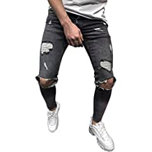 6ad25c2f4a Amazon.it: jeans bianchi strappati uomo - Grigio