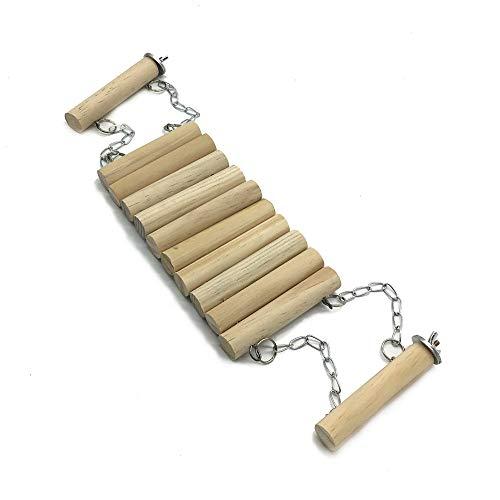 Liv-bird Vögel Spielzeug Holzleiter Hölzerne Strickleiter mit Seil Swing Bridge für Wellensittiche Sittiche Papageien Pet Training Spielzeug -