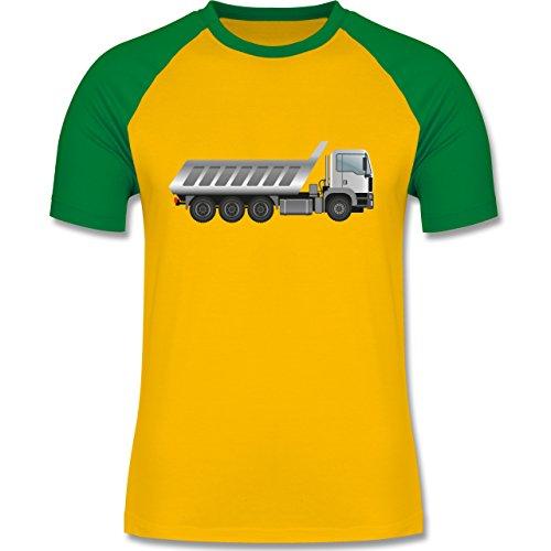 Andere Fahrzeuge - Großer Muldenkipper - zweifarbiges Baseballshirt für  Männer Gelb/Grün