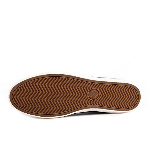 Fred Perry Byron Low Suede Woven Carbon Blue