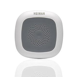 HEIMAN Smarthome wireless Thermometer / Wi-fi Temperatursensor / Hygrometer / Monitoring von Temperatur + Luftfeuchtigkeit-Sensor HS1HT-M (ZigBee kompatibel) - weiß
