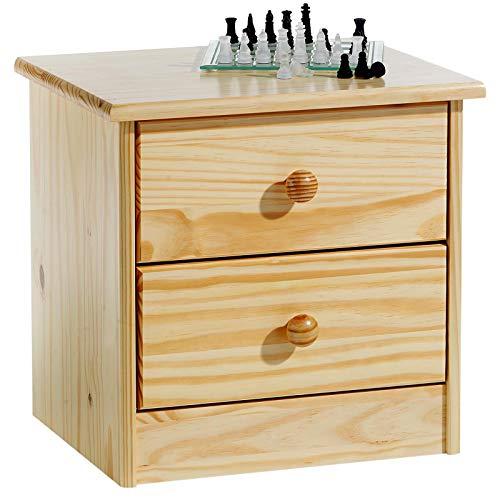 IDIMEX Table de chevet en pin RONDO vernis naturel