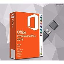 MS Office Professional Plus 2019 (32 Bit+64 Bit) mit USB Stick, Original Lizenz-Key, Produktschlüssel, Deutsche Lizenz, Anleitung von SWU Softwareunion