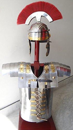 historicalmuseumstore römischen Lorica Segmentata segmenta Armor + Centurion Helm Armour Kostüm rot