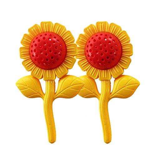 2 Paar Kinder Spielzeug Sonnenblume Hantel mit Bell - Morgen Übungen / Tanz-Performance (Sonnenblumen-bell)