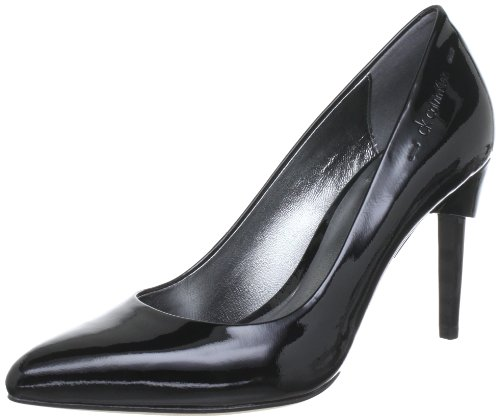 Calvin Klein TWIGGY PATENT LEATHER N11096, Damen Pumps, Schwarz (BLK), EU 37