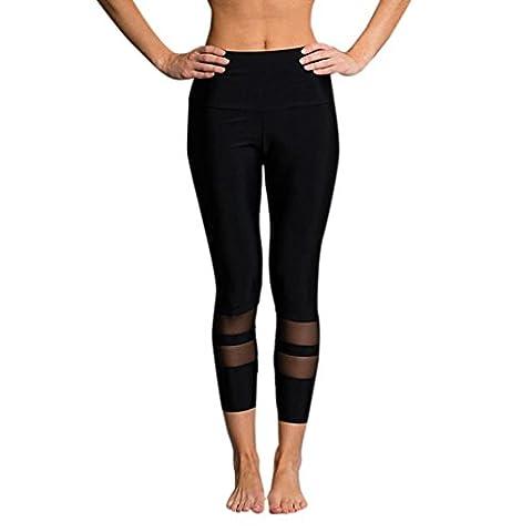 Kanpola Hosen Yoga Frauen High Taille Sport Gym Running Fitness Leggings Workout Kleidung (L, (Jazz Knöpfe)