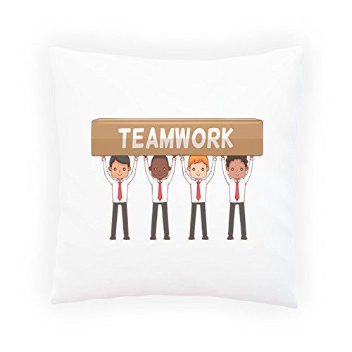 Teamarbeit Glückliche Männer Dekoratives Kissen, Kissenbezug mit Einlage/Füllung oder ohne, 45x45cm p746p