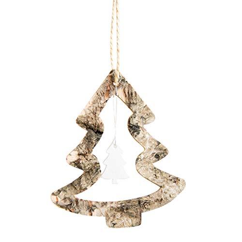Mitlfuny➤Black Friday & Cyber Monday -80%➤Rustikale Frohe Weihnachtsbaum Dekor fühlte Holzanhänger Weihnachten hängen Ornamente