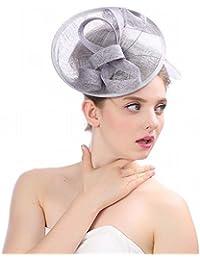 HYW Sombrero - señoras otoño e Invierno Tocado Estable Tiara Nupcial Retro  Estilo Lino Nupcial Sombrero e1b4296df672