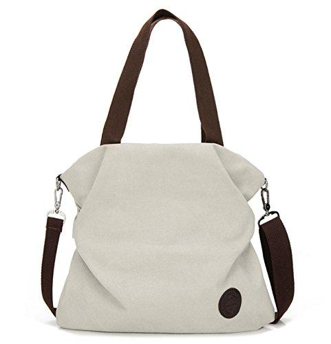 Hozee Sac à main en toile pour femmes - Crossbody Sac à bandoulière Messenger Bag Crossover Sac pour les filles de l'école des femmes Shopper Achats scolaires