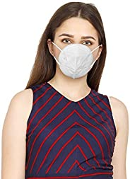 Callas N95 Re-usable Mask Anti Pollution, High Filtration Capacity 5 Layered Without Respirator (Pack of 5, Wh