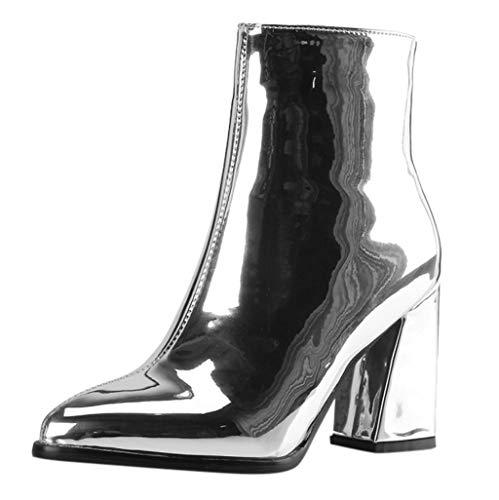- Mädchen Schwarz Und Silber Super Stiefel