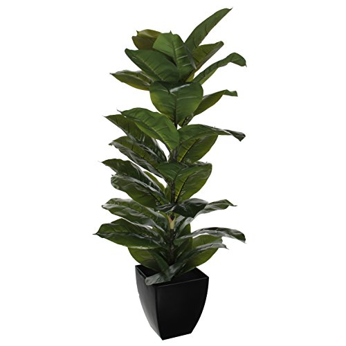 Mica-Decorations-1005412-Rubber-Green-House-Plant-in-Pot-Plastic-50-x-50-x-115-cm