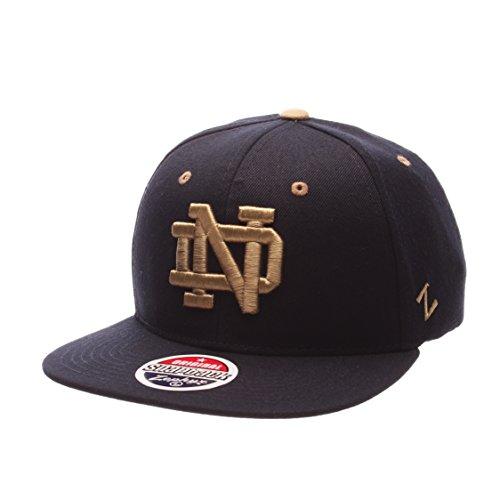 Zephyr Herren Notre Dame Fighting Irish Navy Script Snapback Hat Verstellbar (OneSize)