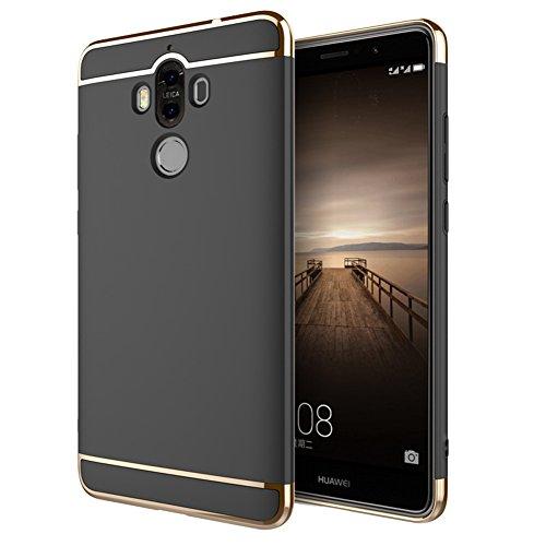 Huawei Mate 10 Hülle, 3-in-1 Design Premium PC Hülle Schutzhülle Ultra Dünn Kratzfest Handyhülle Case Cover Huawei Mate 10 Schwarz