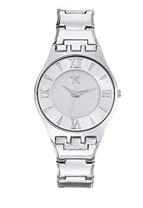 Trendy Kiss - TM10053-01 - Montre Femme - Quartz Analogique - Cadran Blanc - Bracelet Métal Gris
