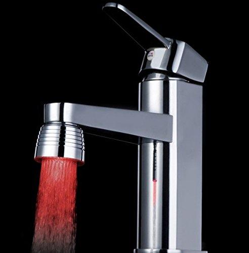 LED colorati Led rubinetto rubinetto temperatura luce camaleonte colore cambiando rubinetto testa lampada -1 colore + 2 adattatori