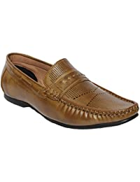 Latest Fashion Stylish Denigrate Leather Loafers & Moccasins Shoes Out Door Casual Foot Wear For Boy/Boys/Boy's...
