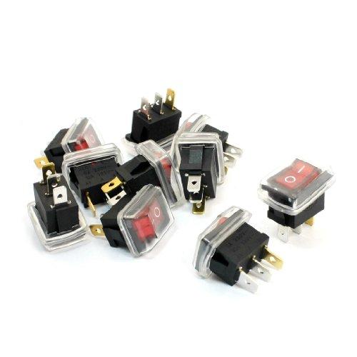 Aexit 10Pcs AC 6A 250V 10A 125V 3Pin SPST Interruptores de balancín...