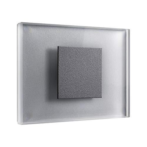 Serie Medium 1 Licht (SET LED Treppenbeleuchtung Premium SunLED Medium Kaltweiß 230V 1W Echtes Glas Wandleuchten Treppenlicht mit Unterputzdose Treppen-Stufen-Beleuchtung Wand-Einbauleuchte (Alu: Silbergrau, 4er Set))