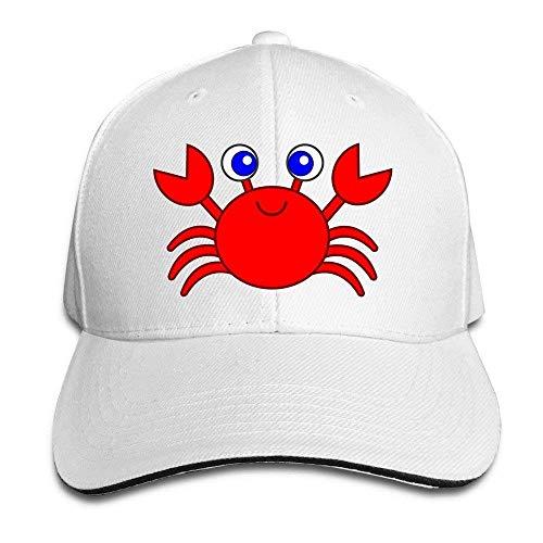 Xukmefat Cartoon Crab Unisex 100% Cotton Adjustable Trucker Hat Ash NN10521